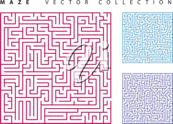 Royalty Free Clipart Image of Mazes