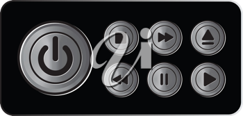 Royalty Free Clipart Image of a Power Buttons