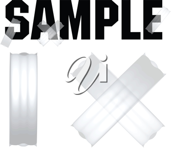 Royalty Free Clipart Image of a Sticky Tape Sample