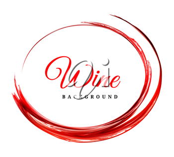 Abstract vector red wine background on white