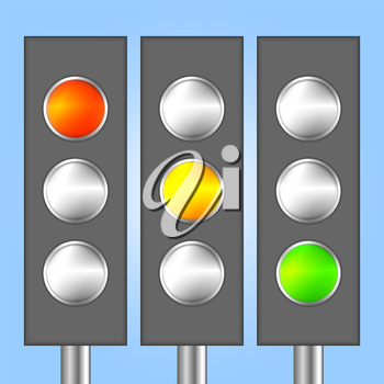 Royalty Free Clipart Image of Traffic Lights