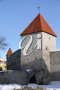 Royalty Free Photo of a Tower and Walls