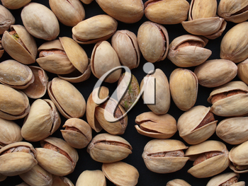 Food - Salted roasted pistachio nut with shell - useful as a background