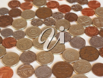 Pound coins money (GBP), currency of United Kingdom
