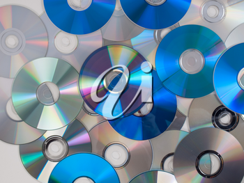 CD, DVD, BD (Bluray) optical discs for music, video and data storage
