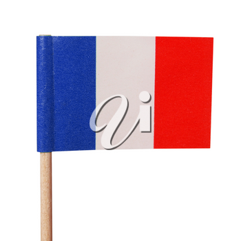The national French flag of France (FR) - isolated over white background