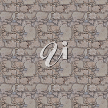 seamless tiled grey stone wall texture useful as a background