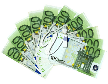 Detail of Euro banknotes money - European currency