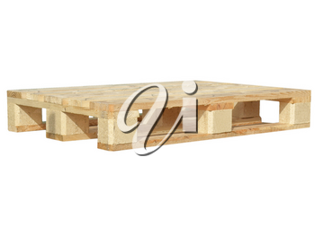A pallet isolated over a white background