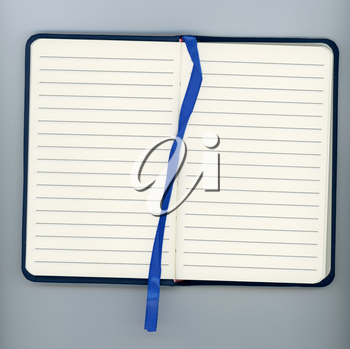 blank paper page of a notepad with copy space