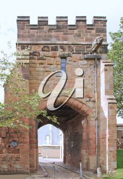 Cook Street Gate in the medieval fortified town walls, Coventry, UK