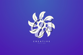Design abstract flower and leaf logo for spa, hotel, beauty, health, fashion, cosmetic, boutique, salon, yoga, therapy. Simple and modern vector design for your business brand or product.