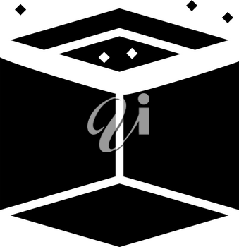 on ceiling mirror glyph icon vector. on ceiling mirror sign. isolated contour symbol black illustration