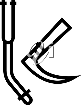 tracheal intubation tools line icon vector. tracheal intubation tools sign. isolated contour symbol black illustration