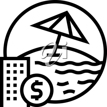 payment for vacation voucher line icon vector. payment for vacation voucher sign. isolated contour symbol black illustration