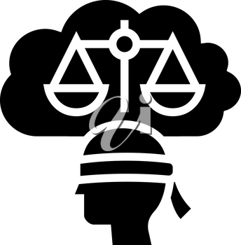 law philosophy glyph icon vector. law philosophy sign. isolated contour symbol black illustration