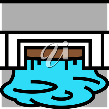 industry drainage system color icon vector. industry drainage system sign. isolated symbol illustration