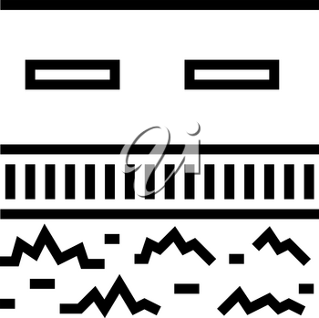 road drainage system line icon vector. road drainage system sign. isolated contour symbol black illustration