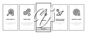 Bike Repair Service Onboarding Mobile App Page Screen Vector. Complex Bike Repair And Setting, Research And Fix Broken Details, Cogset And Pedals Replacement Illustrations