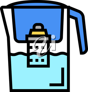 domestic filter water color icon vector. domestic filter water sign. isolated symbol illustration