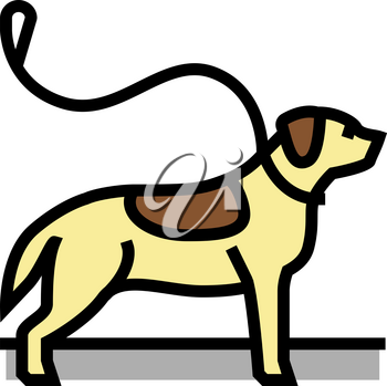 pouring out dog color icon vector. pouring out dog sign. isolated symbol illustration