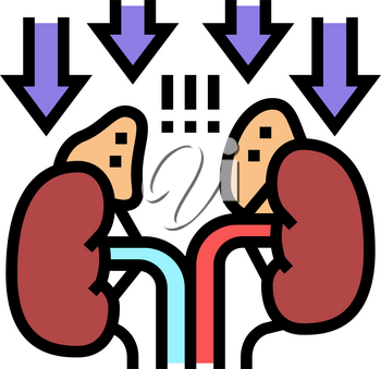adrenal insufficiency endocrinology color icon vector. adrenal insufficiency endocrinology sign. isolated symbol illustration