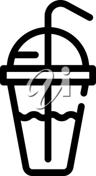 drink cocktail cup line icon vector. drink cocktail cup sign. isolated contour symbol black illustration