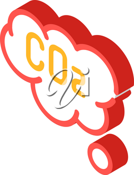 co2 cloud isometric icon vector. co2 cloud sign. isolated symbol illustration