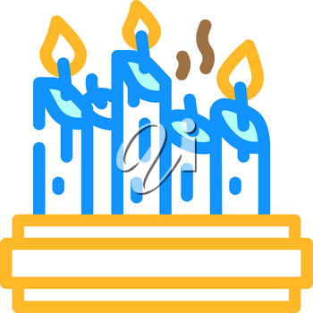 church candles color icon vector. church candles sign. isolated symbol illustration