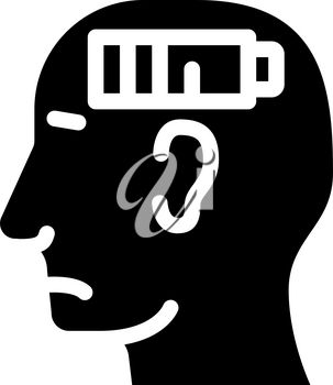 lack of strength neurosis, low battery glyph icon vector. lack of strength neurosis, low battery sign. isolated contour symbol black illustration