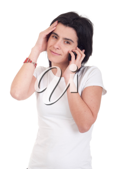 Royalty Free Photo of a Woman Talking on the Phone