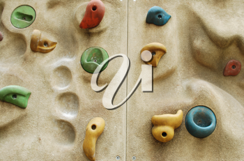 Royalty Free Photo of Climbing Wall Details