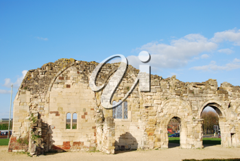 Royalty Free Photo of St Oswald's Priory Church Ruins in Gloucester, England