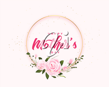 happy mothers day flower card frame design