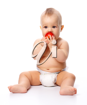 Royalty Free Photo of a Baby With an Apple