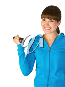 Royalty Free Photo of a Girl Exercising With Weights