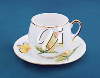 Empty coffee cup and Saucer