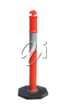 Isolated image of T Top Temporary Bollard  with reflect collar