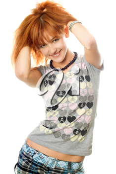 Royalty Free Clipart Image of a Redhead