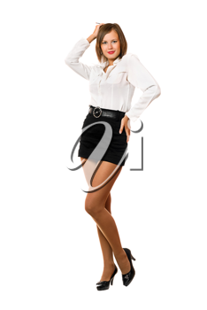 Royalty Free Photo of a Woman in a Short Black Skirt