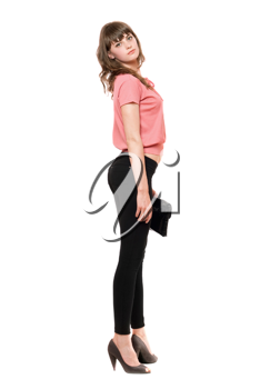 Royalty Free Photo of a Young Woman With a Purse