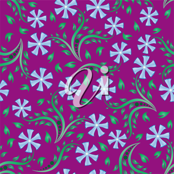 Royalty Free Clipart Image of a Purple Floral Background