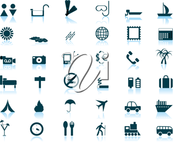 Royalty Free Clipart Image of a Set of Travel Icons