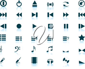 Royalty Free Clipart Image of Musical Icons