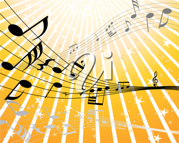 Royalty Free Clipart Image of a Musical Notes Background