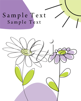 Royalty Free Clipart Image of a Card Template