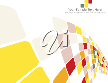 Vector illustration of abstract multicolor checked background