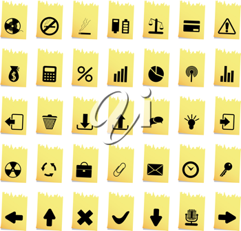 Collection of different icons for using in web design