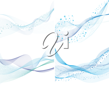 Abstract water vector background set with bubbles of air