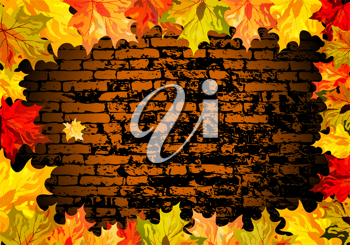 Autumn maple leaves background. Vector illustration with transparency EPS10.